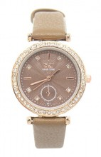 A-E9.3 W523-063 Quartz Watch 32mm with Crystals Brown