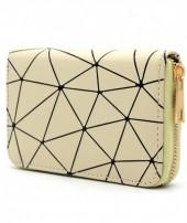 WA214-002 Wallet with Geometric Design Yellow