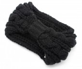 T-J7.3  H401-007B Knitted Headband Black