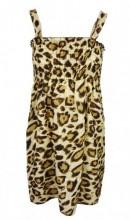 K-F7.1 Beach Dress Leopard One Size Fits All
