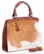 R-H6.1 BAG-795 Luxury Leather Bag 36x30x12cm Brown with mixed color Cowhide