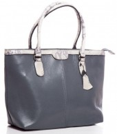 T-B5.2 BAG-849 Large Luxury Leather Bag 46x30x14cm Grey