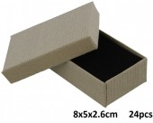 L-C6.2 Giftbox for Pendant-Ring-Earrings 5x8x2.6cm Grey 24pcs