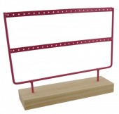 R-D2.2  Wood with Metal Earring Display Pink 27x22x7cm