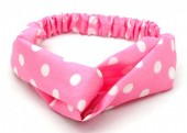 S-D6.1  H039-002 Headband with Polka Dots Pink