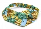 S-B6.5 H034-021 Headband Pineapples Light Blue