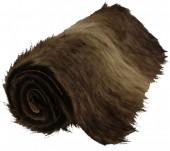 Y-C2.4 Fake Fur Table Runner Brown 90x30cm