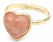 E-E4.4 R1934-009 Adjustable Ring Dark Pink Stone Gold