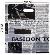 A-F23.1  Plastic Bags Newspaper Print 20x25cm 100pcs
