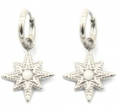 A-B8.3 E2033-005S S. Steel 10mm Earring with 17mm Star Silver