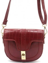 Y-E4.3 BAG006-011C PU Bag Croco 15x19x5cm Red