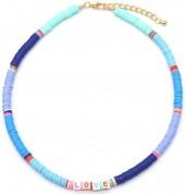F-F20.1  N536-103B Necklace LOVE 42-48cm Blue