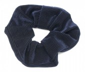 S-C3.1 H305-022C Rib Fabric Shiny Scrunchie Navy