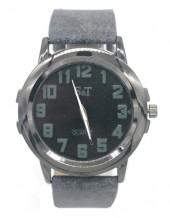 B-C21.1  W523-002B Quartz Watch with PU Strap 45mm Grey