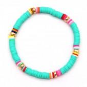 C-E6.1  B1925-007 Surf Bracelet with Rubber Beads Blue