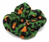 S-A3.4 H002-014 Scrunchie Animal Print Green