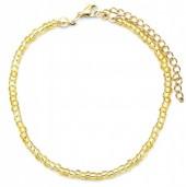 C-A14.1 B2061-001I Bracelet with Glass Beads Gold