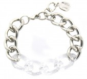 E-D18.2 B2019-013S Metal Chain Bracelet Silver