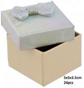 Y-E4.1 PK424-076 Giftbox for Rings 5x5x3.5cm Silver 24pcs