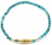 A-D20.2 B2019-041G Semi Precious Stones Bracelet Blue-Gold