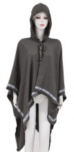Z-C2.1  SCARF409-034 Exclusive Hooded XL Scarf Grey