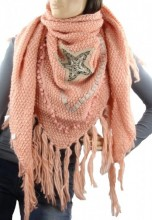 R-D8.1 Thick XL Scarf with Star Pink