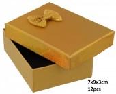 Y-E5.3 PK424-076 Giftbox for Jewelry 7x9x3cm Gold 12pcs