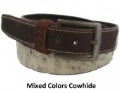 S-D7.1 Cowhide Leather Belt 4x100cm Adjustable 81-91cm Mixed Colors