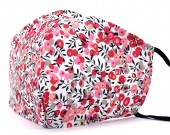 A-A10.2 SKA511 Cotton Fashion Mask with Room for Filter Washable - Flowers