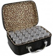 Y-F5.5 TOOL2112-025 Suitcase 13.5x19x7cm with 24 Jars Black