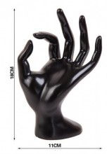 Q-P3.2 Display Hand 18x11cm Black