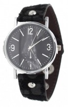 E-B5.6 W1202-002 PU Watch with Panter Print Black