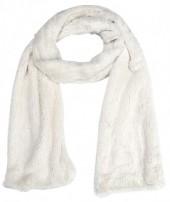 S-K2.3 S003-002 Soft Fake Fur Scarf 180x18cm White