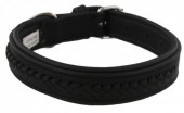 G-A16.2  MTDC-001 Leather Dog Collar Braided Black XXS 39x2cm