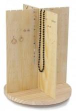 Z-F5.1 PK424-065 Turnable Jewelry Display 35.5x23.5cm Wood