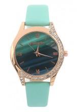 D-E2.5 W523-078 Quartz Watch 36mm with Crystals Blue