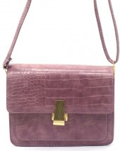 Y-C4.5 BAG006-002B PU Bag Croco 19.5x15x6cm Purple