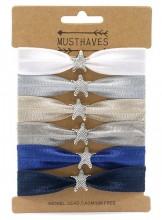 S-D2.1 H017-011C Hair Tie Set with Stars 6pcs