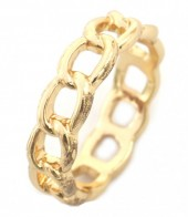 E-C16.1 R2019-001 Metal Chain Ring Mixed Sizes Gold