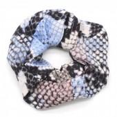 S-D2.1 H305-011 Scrunchie Snake Blue