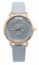 C-E18.4 W523-028 PU Quartz Watch 34mm Blue