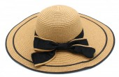 Q-A2.1 HAT315-002 Hat with Bow Brown