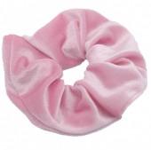 S-B7.1 H305-009A6 Velvet Scrunchie Pink