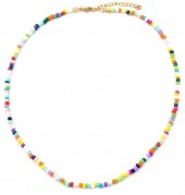 A-A21.1 N2061-001E Necklace with Glass Beads Multi