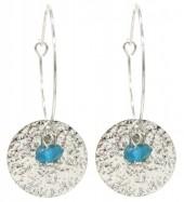 C-A6.2 E2019-041S Earrings Coin 3x5cm Silver