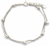 E-C19.5  SB104-244 925S Silver Bracelet Layered