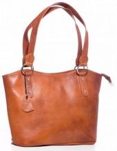 Q-A1.2 BAG-553 Leather Bag 40x28x11cm Brown