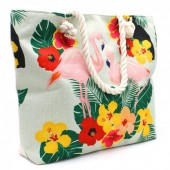 Y-E3.5 BAG001-010 Beach Bag with Flamingos 44x34cm