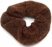 S-F7.3  H305-054 Scrunchie Glitters Brown