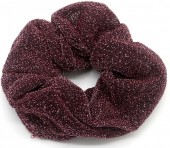 S-J6.2 H305-054B Scrunchie with Glitters Purple